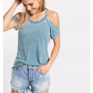 Express One Eleven Cold Shoulder Cut Out Knit Top